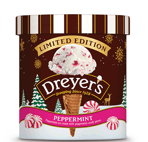 Dreyer's Peppermint ice cream OU Kosher certification