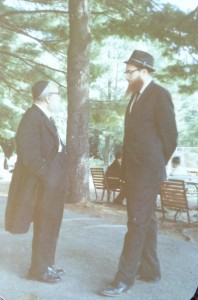 Rabbi Chaim Yisroel Belsky zt'l (right) and Rabbi Yaakov Kamenetsky zt'l at Camp Ohr Shraga in 1969.