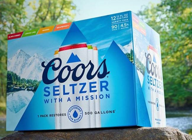 Molson Coors recently introduced their Coors Seltzer brand. Within the hard seltzers market it's focusing on replenishing the environment.