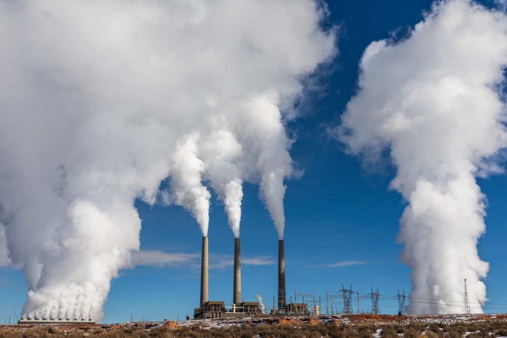 Coal Generating An Electric Power Plant - Coal Is A Fossil Fuel That Leaves A Heavy Carbon Imprint