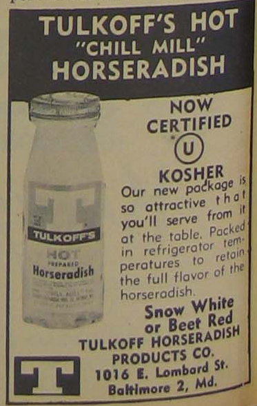 Tulkoff Food OU kosher certified