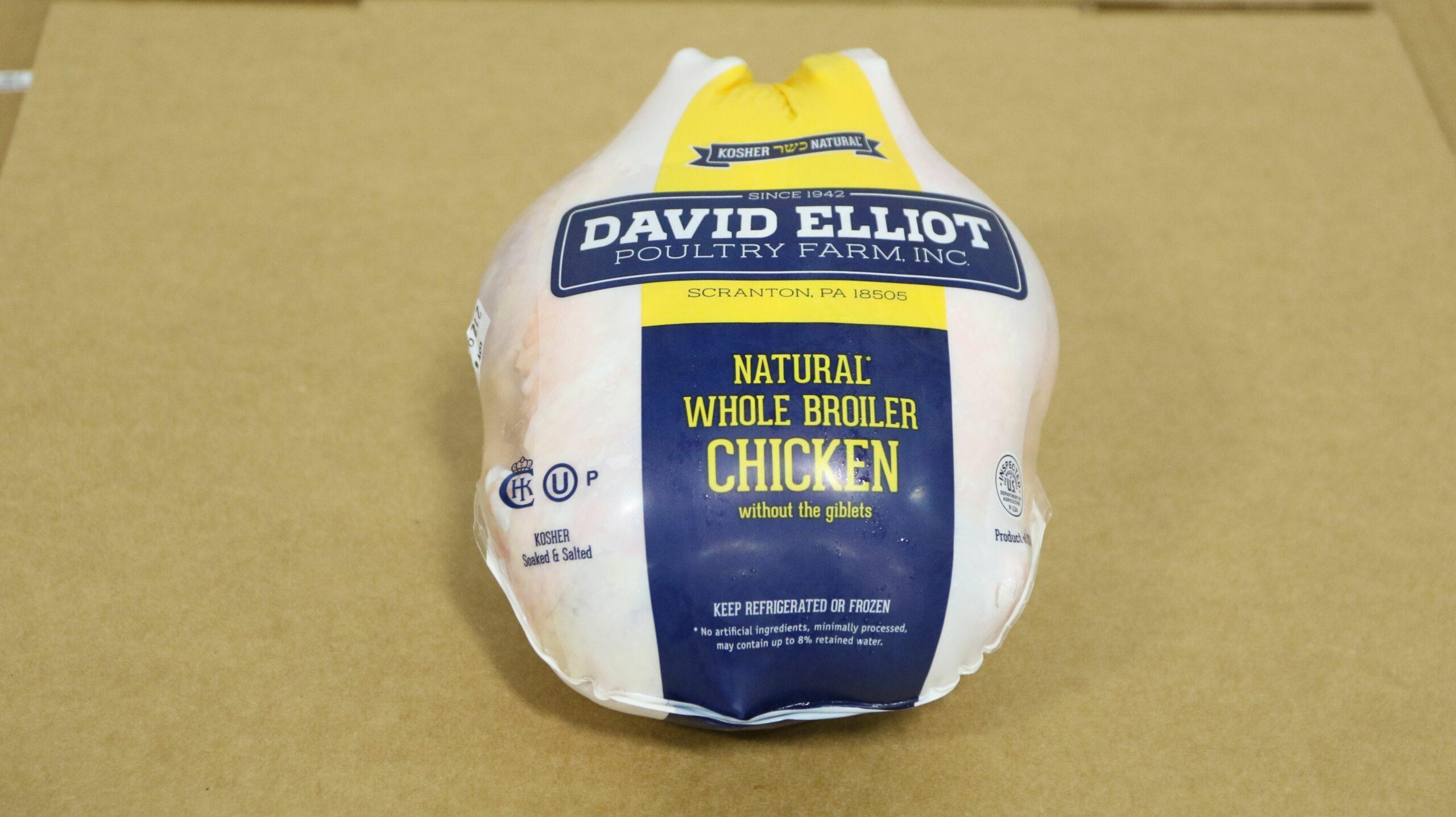 OU Kosher Certified David Elliot Chicken