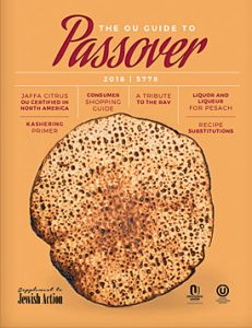 OU Kosher Guide to Passover 2018