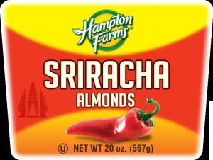 Hampton Farms Sriracha Almond Label