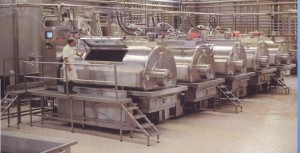 Inside a whey processing factory