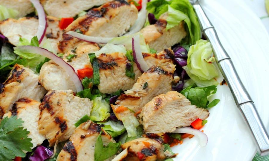 Куриный салат с овощами рецепт с