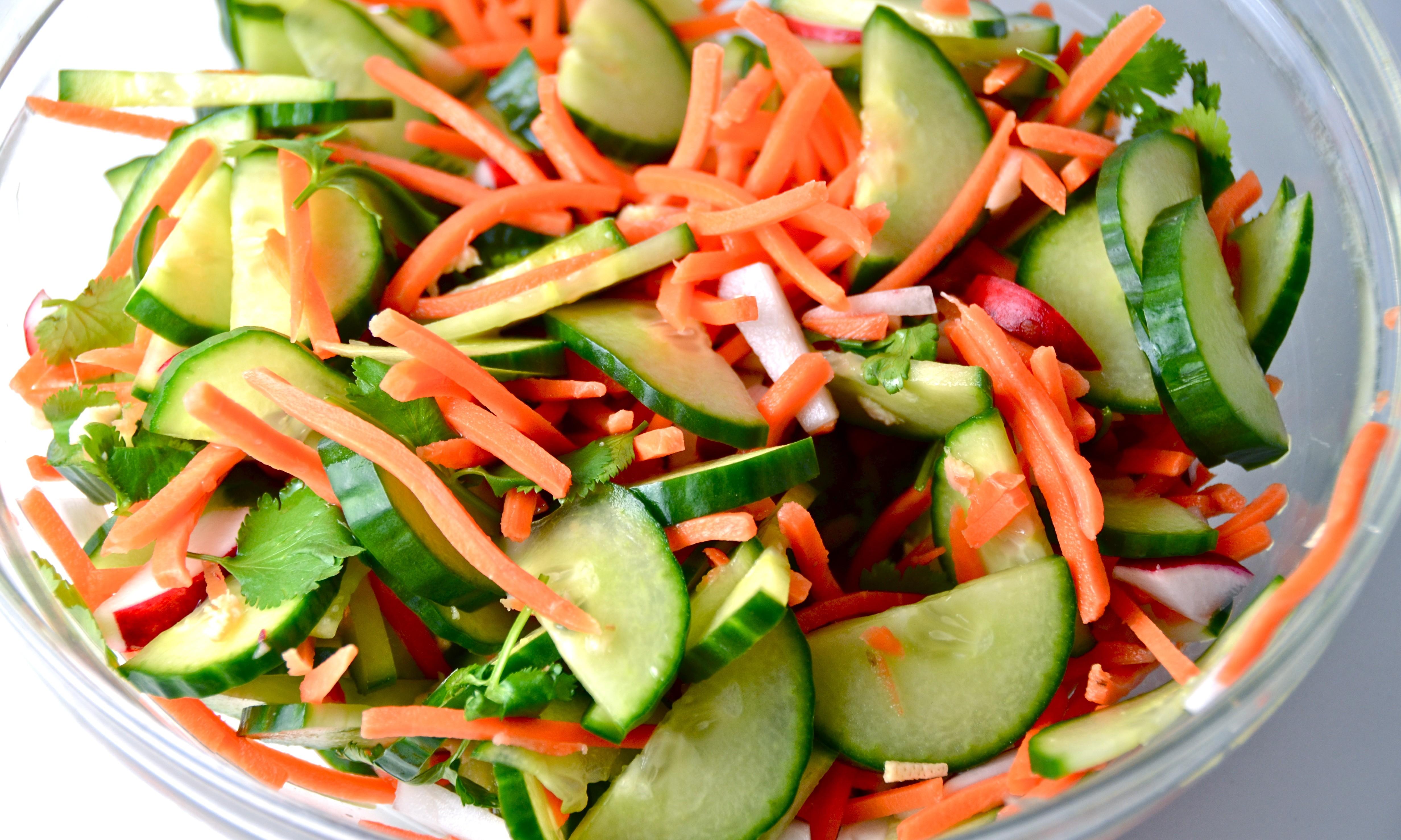 Салат из капусты огурца моркови рецепт с